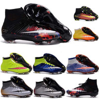 baseball turf - Men Kids Soccer Boots Cleats Boys Mercurial Superfly CR7 FG TF Children Cheap Soccer Shoes Cristiano Ronaldo Youth Women Turf Football Boots