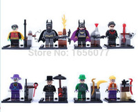 batman hood - 8pcs SY171 BATMAN Bruce Wayne Super Robin Hood Hero Avengers Minifigures Model Building Marvel Blocks Compatible With Legoo