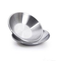 Wholesale 2016 new Dishes Plates Stainless steel soy sauce dish ceremoniously condiment dish caidie small dish