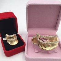 Wholesale New Africa high quality fashion jewelry set dubai k gold plated crystal jewelry set elegant noble bracelet ring party