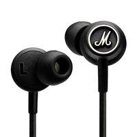Cheap Marshall MODE Headphones In Ear Headset Black Earphones With Mic HiFi Ear Buds Headphones Universal For Mobile Phones VS marshall major