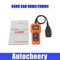 Wholesale DHL Car Care U480 OBD2 OBDII OBD II MEMO Scan MEMOSCAN LCD Car AUTO Truck Diagnostic Scanner Fault Code Reader Scan Tool