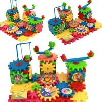 Wholesale Our electric block assembled toys boxed snowflake gear blocks children puzzles toys