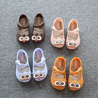abnormal animals - 13 cm New mini sed style SED girls beach sandals children cute owl plastic PVC jelly shoes for kids