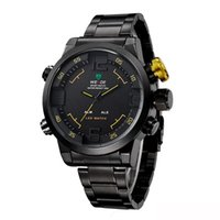 alarm clock watches - Top Luxury Brand WEIDE Wrist Watch Led Waterproof Timer Luxury Watches Men s Business Stainless Steel Strap Alarm Clock Sports Quartz Watch