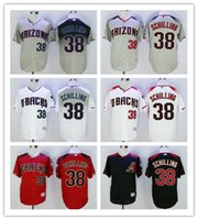 arizona short sales - Hot Sale Arizona Diamondbacks Curt Schilling Jersey Stitched Newest Curt Schilling Baseball Jersey Gray White Red Black Best Quality