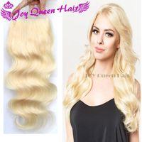 Wholesale Blonde Human hair Lace Closure x4 Brazilian Peruvian hair top closure body Wave Russian European Blonde Frontal Closue