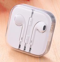Wholesale 3 mm Stereo Handsfree with Remote Mic Headset with box iPhone7 plus s s G Earphone White ipad Ear buds Top quality Headphone