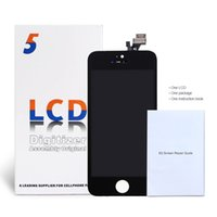 bar guide - GRADE AAA Quality For iPhone LCD Screen Assembly No Dead Pixels DHL With Repair Guide Black