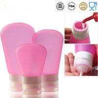 Wholesale High Quality Portable Soft Silicone Travel Bottles mL mL mL Shampoo Shower Lotion Sub bottling Containers Squeeze Tool Travel Bottles
