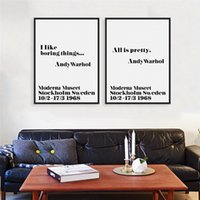 andy lots - 6pcs Nordic Black White Minimalist Typography Andy Warhol Life Quote Art Print Poster Wall Picture Canvas Painting Home Decor DH0002