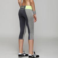 Wholesale Running Pants Women Brand Cotton Elasticity High Waist Summer Jogging Sport Leggings Fitness Training Thight Pant