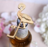 beach wedding favours - Summer Beach Gold Metal Flamingo Bottle Wine Opener Favour Anniversary Wedding favors gifts Wedding Party supplies