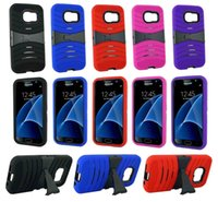 active plastics - New Rugged Case Protective Hybrid Anti scratch Kickstand Phone Cover for Samsung Galaxy S7 S7 Active S7 Edge S7 Plus Color At Least