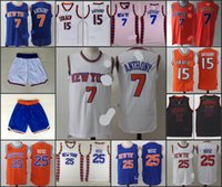 anthony for men - A new arrival New York Carmelo Anthony Derrick Rose Knicks blue orange white jersey for mens