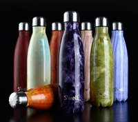 Wholesale Swell vacuum flask coke bottle thermoses bowling cup high grade thermoses and fashion movement veined marble kettle