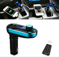 amplifiers cards - T66 Car MP3 Player Infrared Remote Control Support AUX Cigarette Lighter Type Card Machine Dual USB Car Charger Car Stereo Music