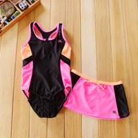 baby sun block - 7 T baby girls Contrast color swimsuit bathing suit for kids Sun Block Swimwear Bodysuit Skirt Beach Wear
