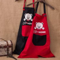 Wholesale Korean Fashion Cute Cartoon Couple Sleeveless Kitchen Aprons Adult Men And Women Home Antifouling Protection Clothing Overalls By Fly_Dream