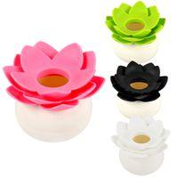 Wholesale Lotus Flower Cotton Bud Holder Toothpick Case Cotton Swab Box Home Decoration