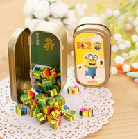 Wholesale R24 Cute Kawaii Minions Pencil Case Design Mini Rubber Erasers Correction School Prizes Promotional Kids Gift Student Stationery