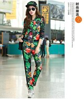 Wholesale Women And Big Girls High Quality Set Girls Long Sleeve Flower Printed Jacket Top With Pant Sport Outfits