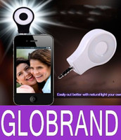 Home projector cell phone - LED Video Light Camera Flash Selfie Light Cell Phone CRI Spotlight Flash for iphone S S S Samsung S4 S5 S3 Note GLO610