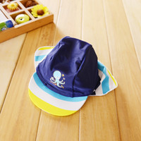 baby sun block - Baby Boys Sun protection Swim Hat Kids Striped UPF Surfing Sunsafe UV Protection Sun Hat Surf Clothing hat Sun Block for Babby Boys