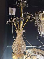 aluminum wire manufacturers - Manufacturers selling warm golden Jane crystal vase lamp lamp bedside lamp decorative aluminum wire
