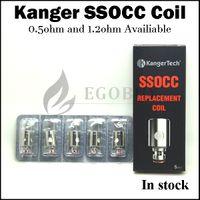 al por mayor auténtico mini-subox-100% auténtico kanger ssocc bobinas bobina vertical de acero inoxidable para kangertech subtanque subox mini-c toptank nano topbox mini subvod original
