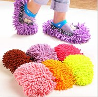 Wholesale House Women s Men s Novelty Slippers Style Mops Sock Floor ground Cleaning tools Microfiber Funny Bedroom Accessories supplies