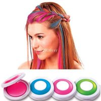 Wholesale 300 Set With Colors Hair Color Professional Compact Pressed Powder Hair Dye Color For Hair Rub Disposable Temporary Chalk