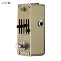 bass eq pedal - New Arrival AROMA AEB Bass Analog Band EQ Equalizer Mini Single Electric Guitarra Guitar Effect Pedal with True Bypass