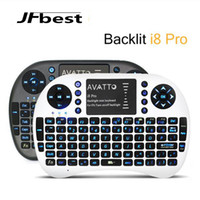 Wholesale Wireless Keyboard rii mini i8 keyboards Fly Air Mouse Multi Media Remote Control Touchpad Handheld for TV BOX Android PC With Li Battery