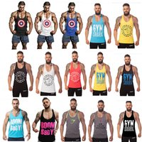 Wholesale 24 Types Mens Tank Tops Bodybuilding Equipment Fitness Brand Gym Singlets Men s GYM Tank Shirts Sports Clothes