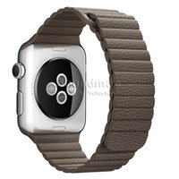 adjustable replacement leather strap - Apple Watch Band mm mm PU Leather Loop with Adjustable Magnetic Closure iWatch Band Replacement Bracelet Strap with Retail package