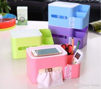 Wholesale 24pcs Multifunctional Automatic Lifting Plastic Tissue Box Fit Kitchen Bedroom Bathroom Office Table Storage Box Makeup Organizer