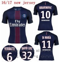 Wholesale Whosales PSGG Soccer Jerseys Jersey Football Jersey Uniforms Discount CAVANI Di Maria Verratti T SLIVA Matuidi thai Free Shipp