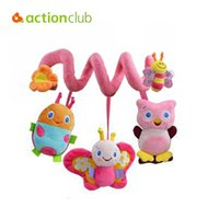baby mobile cars - 2016 new infant Toys Baby crib revolves around the bed stroller playing toy car lathe hanging baby rattles Mobile months