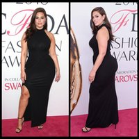 ashley art - Evening Dresses Long Ashley Graham Plus Size Black Silt Celebrity Prom Dresses Long Party Gowns