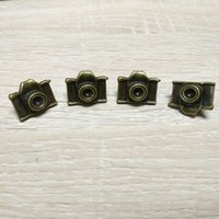 antique camera lot - wholesales fashion design antique brass color camera badge made of zinc alloy