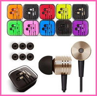 al por mayor teléfono xiaomi hongmi-MI XIAOMI pistón auricular 3 III Auricular Auricular con micrófono remoto para teléfonos MI4 MI3 MI2 MI2S Hongmi Iphone Auriculares con el logotipo