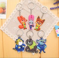 animal officers - 60PCS Available Zootopia Toys Anime Zootopia Figures Keychain Judy Nick Peluche Chief Officer Flash Figure Keychain Pendant toy Y1091