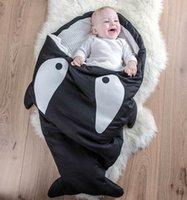 Wholesale Hot Ins shark sleeping bag Newborn sleeping bag Winter Strollers Bed Swaddle Blanket Wrap cute Bedding baby sleep bag Colors