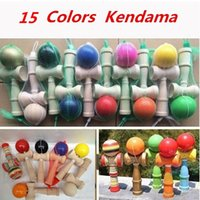 Wholesale 2016 New DHL Fedex Free New Big size cm Kendama Ball Japanese Traditional Wood Game Toy Education Gift Children toys colors