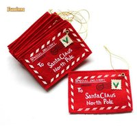 Wholesale New Red Christmas Envelope Christmas Greeting Cards Candy Bag Christmas Tree Decoration Gifts For Friends Christmas Supplies