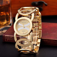 Wholesale 2016 New Fashion Brand Women Watch Rose Gold Stainless Steel Band Bracelet Wristwatch And Box Gift