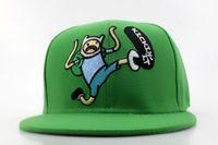 adventure time finn the human - Adventure Time Snapback Hat Finn The Human Snapbacks Cartoon Cap Men Women Summer Sun Hats Visor Caps
