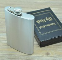 alcohol drinks parties - Whisky oz ml Stainless Steel Pocket Hip Flask Gin Alcohol Wine Wedding Party Bar Drink Bottle Liquor