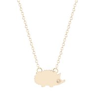 best hedgehog - 10pcs New Style Gold Silver Plated Hedgehog Necklace Pendants Animal Hedgehog Necklace For Women Best Friend